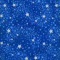 Keepsake Calico Cotton Fabric -Navy Tonal Swirled Stars Glitter
