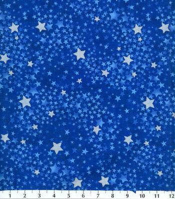 Keepsake Calico Cotton Fabric 44''-Navy Tonal Swirled Stars