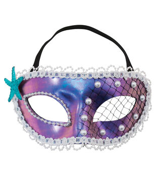 Maker's Halloween 9''x4'' Mask-Mermaid