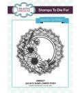 Creative Expressions Stamps To Die For Stamp-Julia\u0027s Sunflower Posy