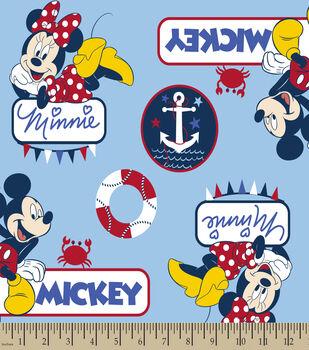 Disney Mickey & Minnie Print Fabric-Nautical