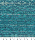 Sweater Knit Fabric -Teal Aztec