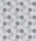 Snuggle Flannel Fabric-Light Gray Burst
