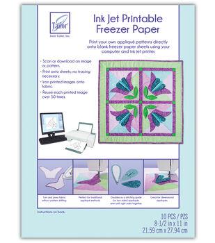 June Tailor Ink Jet Printable Freezer Paper 10/Pkg