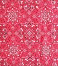 Sportswear Denim Fabric 57\u0022-Red Medallion