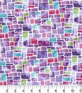Premium Cotton Fabric -Speckled Squares Purple Pearl