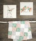 Nursery Fabric Panel 36\u0027\u0027x43\u0027\u0027-Bunny Wall Art