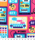 Blizzard Fleece Fabric 59\u0022-Tech Emoticon