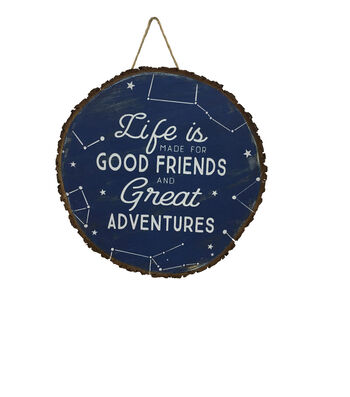 Camp Ann Wood Slice Wall Decor-Constellation