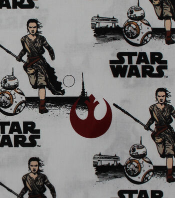 "Star Wars™: The Force Awakens Cotton Fabric 44""-Rey & BB8"