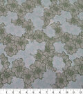 Quilter\u0027s Showcase Cotton Fabric-Lined Flowers Green Teal