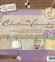 "DCWV 12""x12"" Premium Stack-Printed Chateau Lavender Stack, , hi-res"