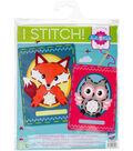 Vervaco I Stitch! Kits 4 Kids Embroidery Cards Kit-Owl & Fox