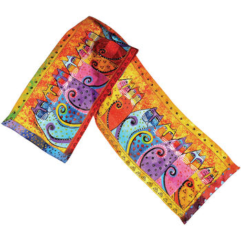 Laurel Burch Scarves-Feline Tribe
