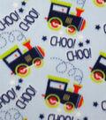 Anti-Pill Fleece Fabric 59\u0022-Choo Choo Train