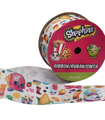 """Offray 1.5""""x9' Shopkins Wink Character Ribbon-Multi"""
