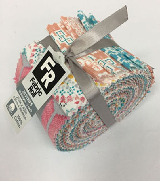 Jelly Roll Cotton Fabric Pack 2.5''x42'' Coral | JOANN
