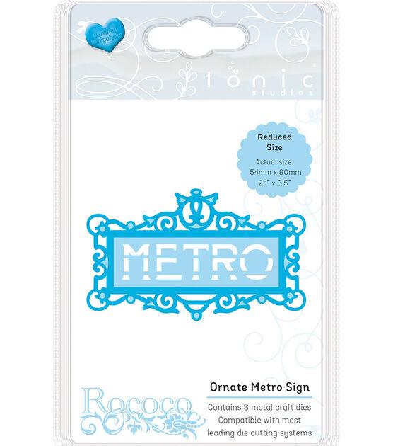 Tonic Studios Rococo Die Ornate Metro Sign, , hi-res, image 1