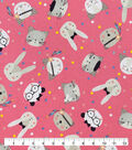 Snuggle Flannel Fabric-Animal Friends Tossed