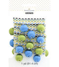 Buttercream 1 Yard Trim Decorative Ball Fringe Blue Green