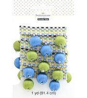 Buttercream 1 Yard Trim Decorative Ball Fringe Blue Green, , hi-res