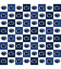 Penn State University Nittany Lions Cotton Fabric-Collegiate Check
