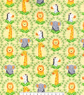 Snuggle Flannel Fabric -Zoo Animal Portraits