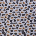 Halloween Cotton Fabric-Tossed Cat Heads Ivory