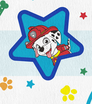 "Paw Patrol Fleece Fabric 61""-Pups in Action"
