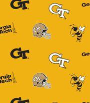 Georgia Tech Yellow Jackets Fleece Fabric -All Over, , hi-res