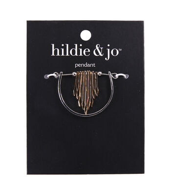 hildie & jo Minimalist Half Circle with Arrow Pendant-Gold & Silver