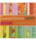 Penny Black Painted Blooms Paper Pad 6\u0027\u0027x6\u0027\u0027
