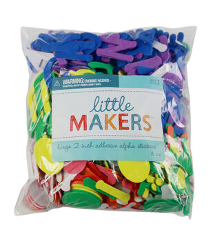 Little Makers Bulk Large Adhesive Alphabet-Primary