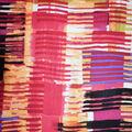Fast Fashion Rayon Spandex Fabric-Coral Abstract Plaid