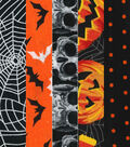 Fat Quarter Bundle Cotton Fabric 18\u0022-Assorted Halloween