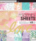 Me & My Big Ideas Mambi 48 pk 12\u0027\u0027x12\u0027\u0027 Specialty Cardstock-Love