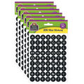 Teacher Created Resources Black & White Alphabet Mini Stickers 6 Packs