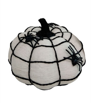 Maker's Halloween Small Fashion Pumpkin with Spooky Spider Web