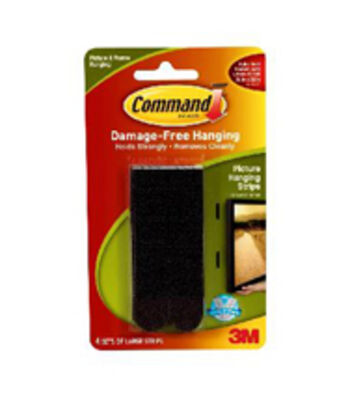 Command Black Picture Hanging Strips Large