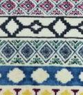 Specialty Luxe Fleece Fabric 59\u0027\u0027-Bison Cream Geometric