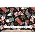 Maker\u0027s Holiday Cotton Fabric 43\u0022-Stockings