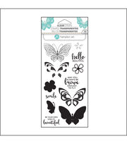 Hampton Art Layering Clear Stamp-Butterfly, , hi-res