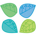 Leaves Cut Outs 42/pk, Set Of 6 Packs