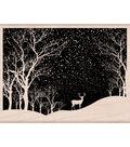 Hero Arts Mounted Rubber Stamp-Snowy Scene