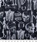 Halloween Cotton Fabric-Glowing Skeleton Anatomy