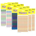 Silver Lead Co. Chart Stickers Variety Pack 3200 Per Pack, 3 Packs