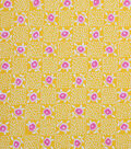 1930\u0027s Cotton Fabric 43\u0022-Floral Checkers Yellow