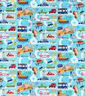 Snuggle Flannel Fabric-Busy Traffic