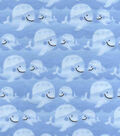 Nursery Flannel Fabric 42\u0022-Whales