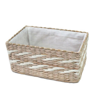 ac4e8e4a0febfb Organizing Essentials 11.75  x7.75   Rush Basket with Metal Frame